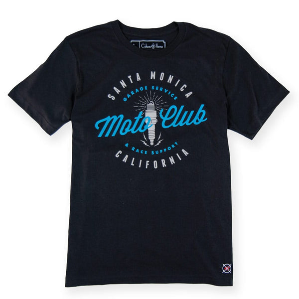Moto Club Di Santa Monica - Meatball Black Tee