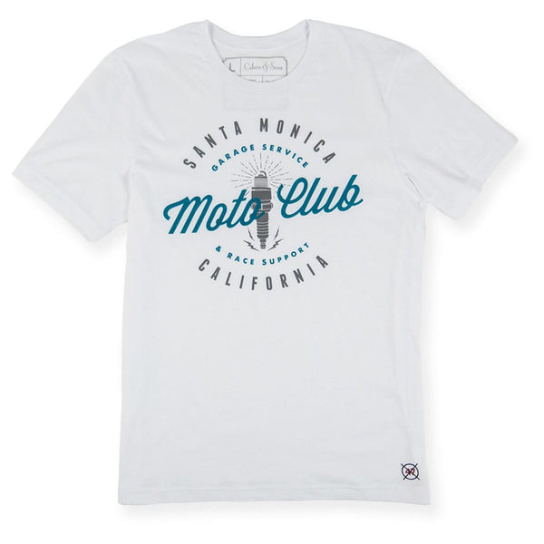 Moto Club Di Santa Monica - Meatball White Tee