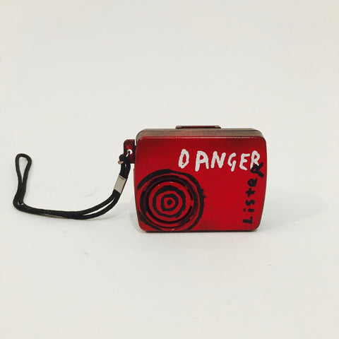 'DANGER' - Camera, acrylic, ink on plastic case, 8cm x 6cm x 2cm