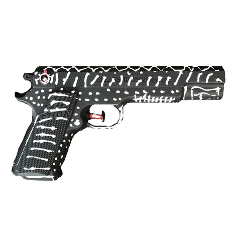 """BANG BANG"" unique, signed, decorated plastic toy gun"