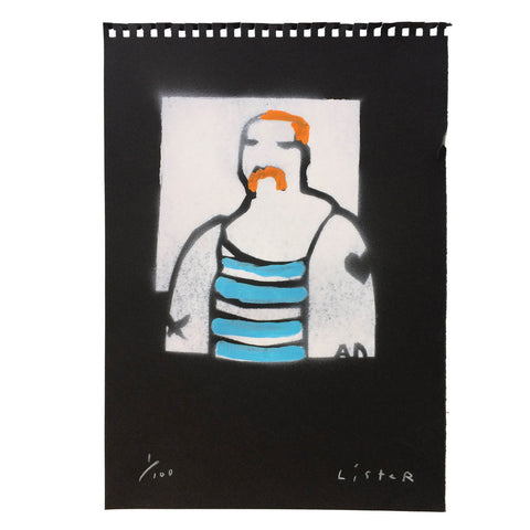 'THE SAILOR' stencil print
