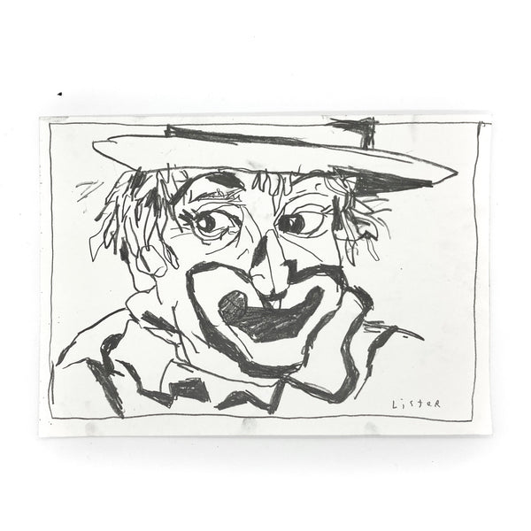 Anthony lister famous artist street art buy original drawing black and white Australia New York Banksy
