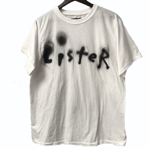 """LISTER"" T-SHIRT (signed), spray paint on 100% Cotton, size L"
