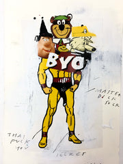 'BYO' Original Collage and Drawing