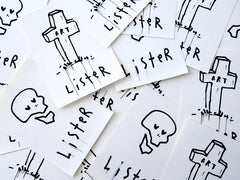 BUS STOP STICKERS - assorted