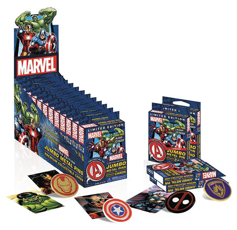 NECA Marvel Limited Edition Jumbo Metal Pins & Premium Collectible Card Pack - Collectors Row Inc.