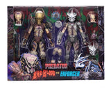 "NECA Predator - 7"" Scale Action Figure - Ultimate Bad Blood and Ultimate Enforcer 2 pack - Collectors Row Inc."