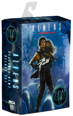 "NECA 30th Anniversary Aliens ""Rescuing Newt"" Scale Action Figure (2 Pack), 7"" - Collectors Row Inc."