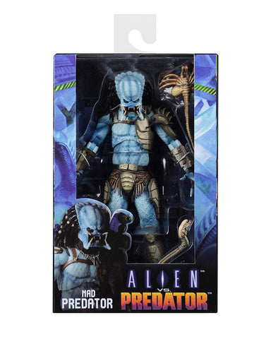 "NECA - Alien vs Predator (Arcade Appearance) - 7"" Scale Action Figure - Mad Predator - Collectors Row Inc."