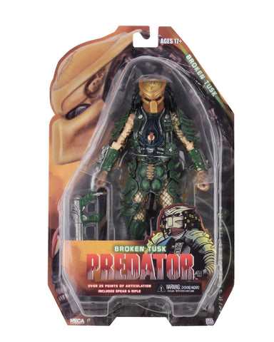 "NECA - Predator - 7"" Scale Action Figures - Series 18 - Broken Tusk Predator - Collectors Row Inc."