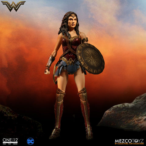 Mezco One:12 Collective Wonder Woman Gal Gadot DC Comics Action Figure - Collectors Row Inc.