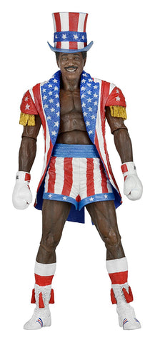 "NECA Rocky 40Th Anniversary Scale Action Figure Series 2 Apollo (Uncle Sam Hat And Coat), 7"" - Collectors Row Inc."