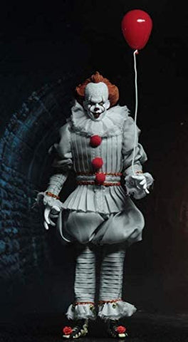 "NECA - IT - 8"" Clothed Action Figure - Pennywise (2017) - Collectors Row Inc."