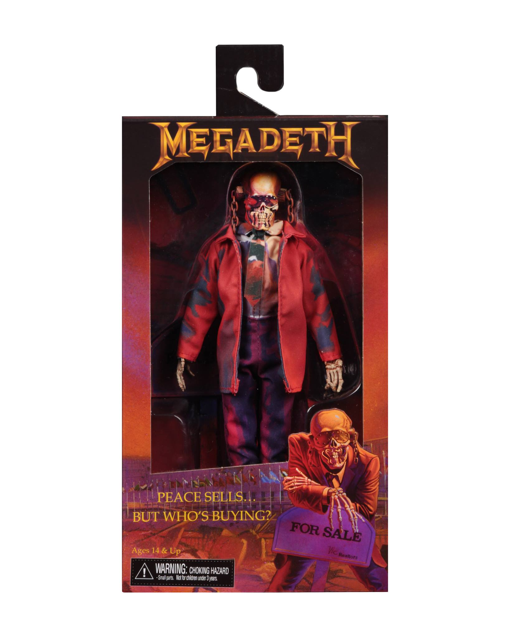 "NECA Megadeth - 8"" Clothed Figure - Peace Sells... but Who's Buying? - Collectors Row Inc."