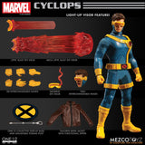Mezco X-Men Cyclops Light Up One: 12 Collective: Marvel Action Figure - Collectors Row Inc.