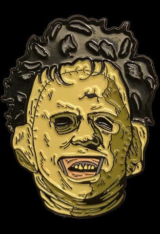 Leatherface Texas Chainsaw Enamel Pin Officially Licensed Trick or Treat Studios - Collectors Row Inc.