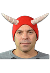 The Devils Cap Halloween Horned Beanie Hat RED by Trick or Treat Studios - Collectors Row Inc.