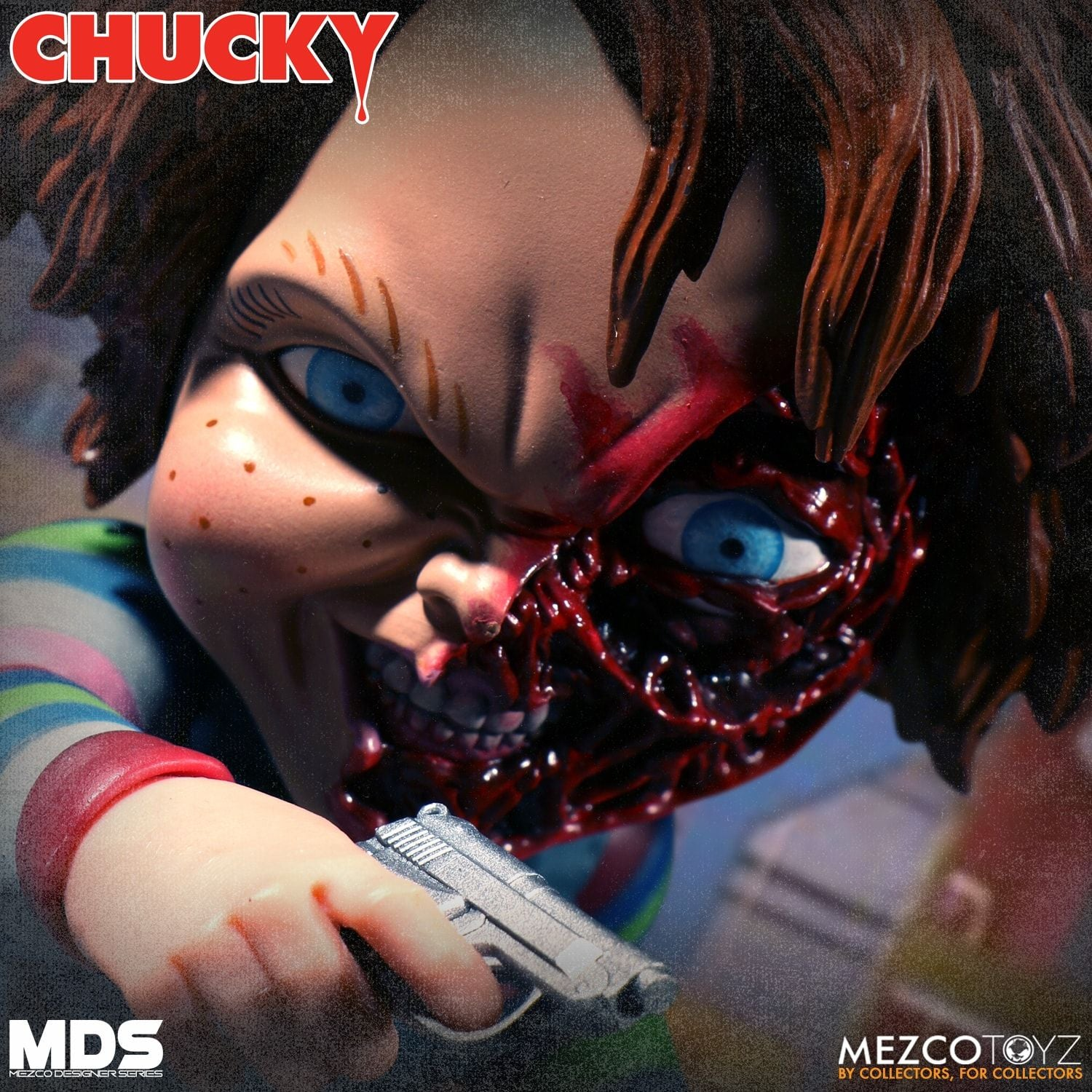 Mezco Chucky Designer Series Deluxe MDS Childs Play Action Figure - Collectors Row Inc.