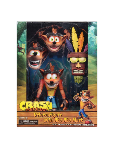"NECA - Crash Bandicoot - 7"" Scale Action Figure- Ultra Deluxe Crash"