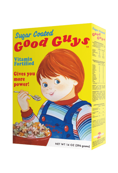 Chucky Child's Play 2 Good Guys Doll Cereal Box - Collectors Row Inc.