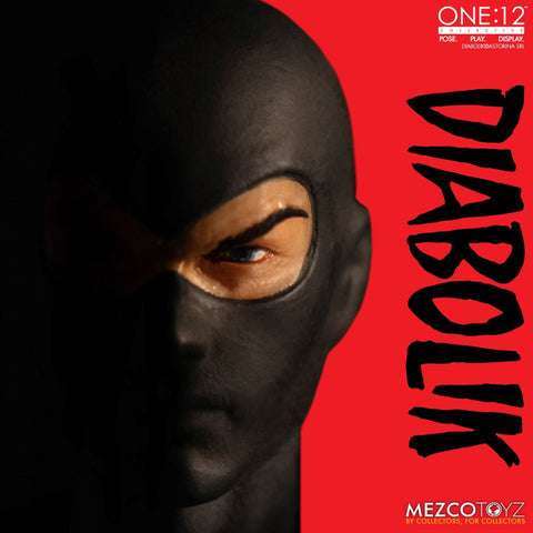 Mezco One:12 Collective Diabolik Action Figure Fumetti Neri Comics - Collectors Row Inc.