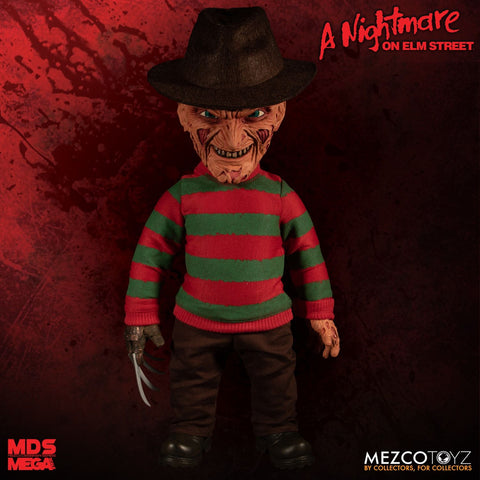 "Mezco Freddy Krueger A Nightmare on Elm Street: 15"" Mega Scale Talking Figure"
