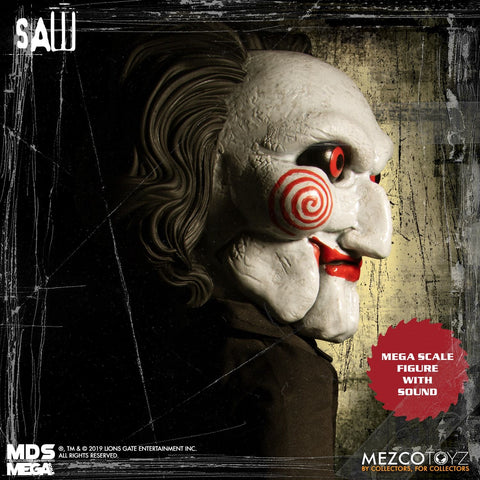 Mezco Designer Series MDS Mega Scale Saw Talking Billy Doll Figure - Collectors Row Inc.