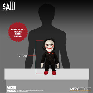 """SAW BILLY THE PUPPET 15/"""" MDS MEGA SCALE FIGURE DOLL w//SOUND MEZCO 38cm 46020"""