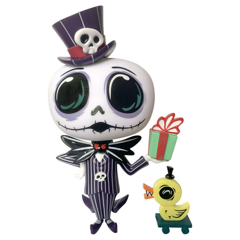 Nightmare Before Christmas Jack Skellington with Present World of Miss Mindy Vinyl Figurine - Collectors Row Inc.