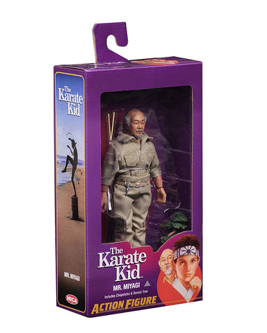 "NECA - Karate Kid (1984) - Mr. Miyagi - 8"" Clothed Action Figure - Collectors Row Inc."