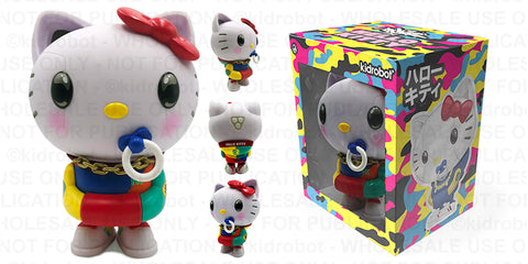 "Kidrobot - Sanrio Hello Kitty 8"" Art Figure by Quiccs – 80's Retro - Collectors Row Inc."