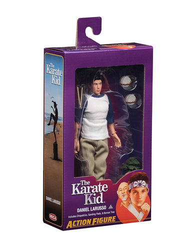 "NECA - Karate Kid (1984) - Daniel LaRusso - 8"" Clothed Action Figure - Collectors Row Inc."