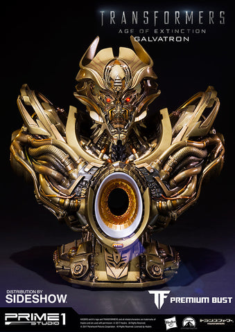 Prime 1 Galvatron Gold Version Transformers: Age of Extinction - Bust - Collectors Row Inc.