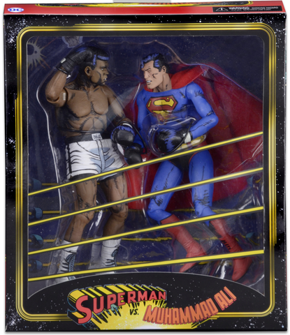 "NECA DC Comics Superman vs Muhammad Ali Special Edition Action Figure (2 Pack), 7"", multi-colored - Collectors Row Inc."