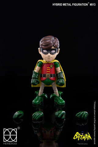 "Herocross Hybrid Metal Figuration Robin ""Batman 1966 TV Series"" Action Figure - Collectors Row Inc."