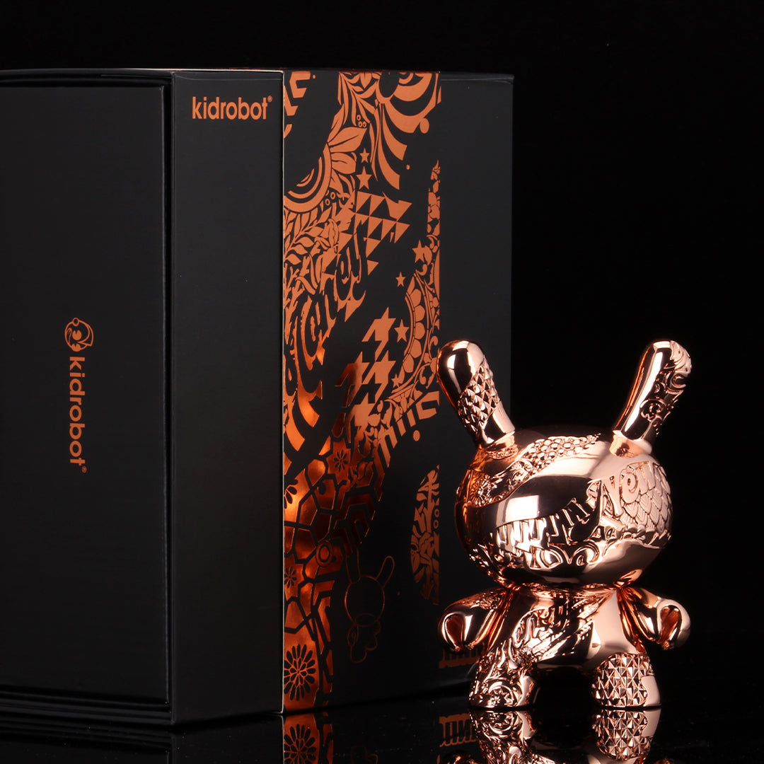Kidrobot New Money Rose Gold Metal 5 Inch Dunny Figure - Collectors Row Inc.