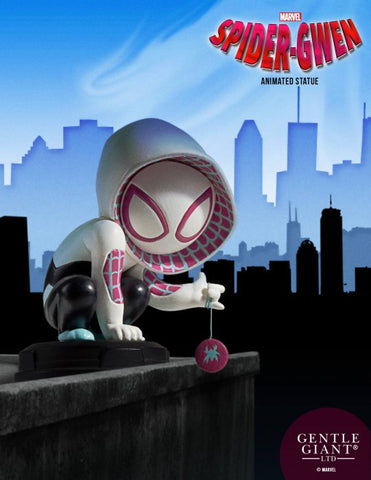 Spider-Gwen Animated Marvel Statue by Skottie Young and Gentle Giant Studios - Collectors Row Inc.