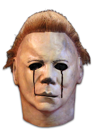 Halloween II Micheal Myers Blood Tears Deluxe Mask by Trick or Treat Studios - Collectors Row Inc.