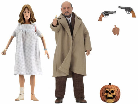 "NECA - Halloween 2 - 8"" Scale Clothed Figure - Doctor Loomis & Laurie Strode 2-Pack - Collectors Row Inc."