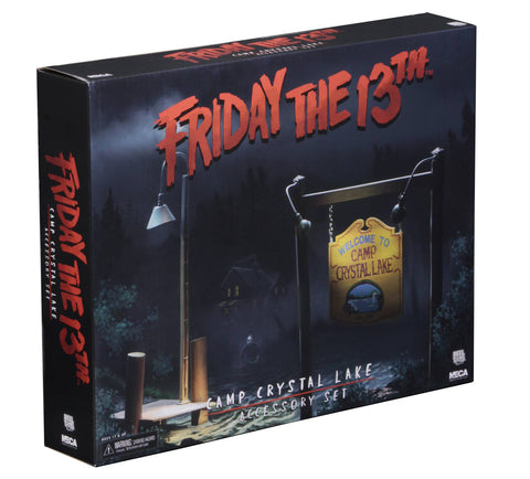 NECA Friday the 13th – Accessory Pack – Camp Crystal Lake Set - Collectors Row Inc.
