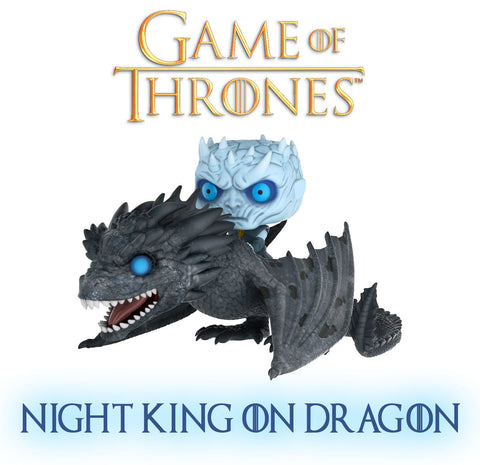Funko Pop Rides: Game of Thrones-Night King on Dragon Collectible Figure - Collectors Row Inc.