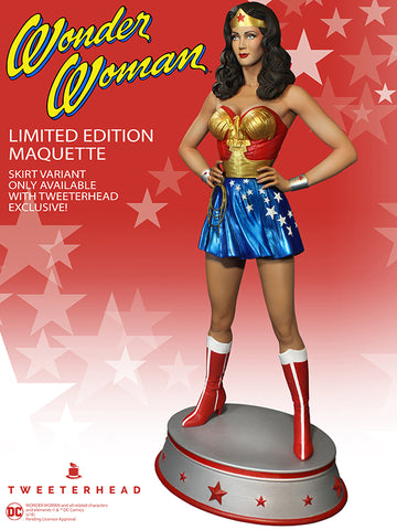 Wonder Woman Season One EXCLUSIVE Statue Lynda Carter Maquette by Tweeterhead - Collectors Row Inc.