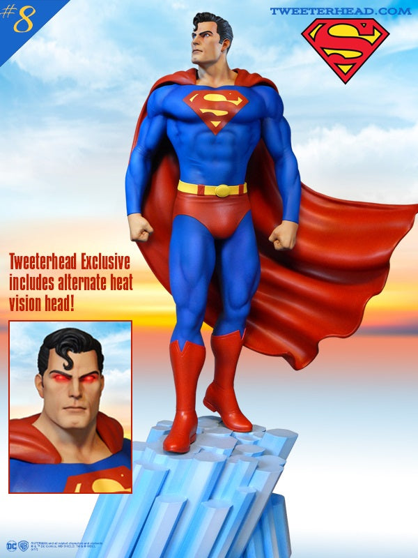 Tweeterhead Superman Super Powers Collection Maquette - Collectors Row Inc.