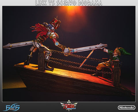 Link vs Scervo Diorama Statue by First 4 Figures - Collectors Row Inc.