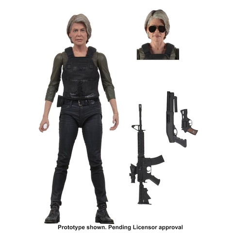 "NECA - Terminator Dark Fate (2019) - 7"" Scale Action Figure - Sarah Connor - Collectors Row Inc."