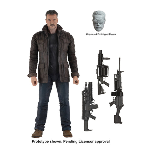 "NECA - Terminator Dark Fate (2019) - 7"" Scale Action Figure - T-800 - Collectors Row Inc."
