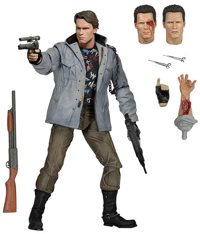 "Terminator - 7"" Action Figure - Ultimate T-800 (Tech Noir) - Collectors Row Inc."