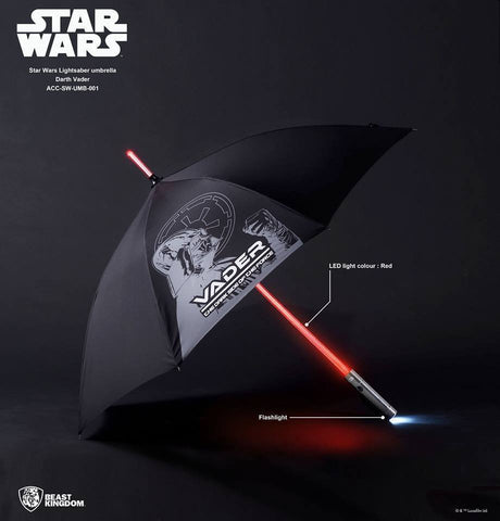 Star Wars Darth Vader LED Umbrella Lightsaber by Beast Kingdom - Collectors Row Inc.