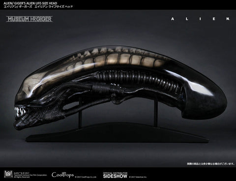 Gigers Alien Life-Size Head Prop by Cool Props and Sideshow - Collectors Row Inc.