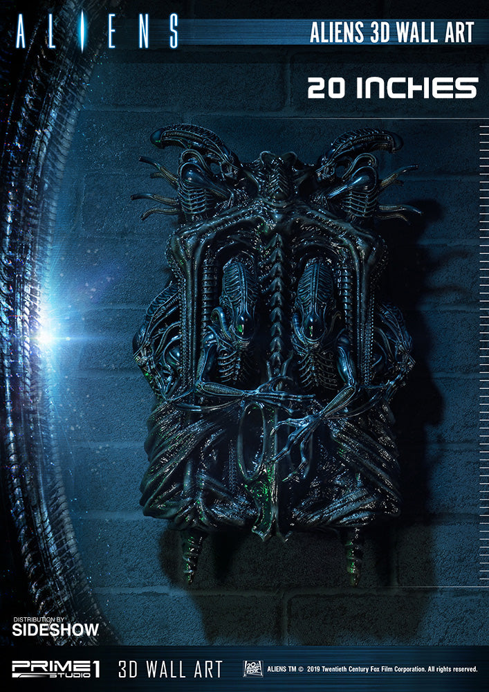 Aliens 3D Wall Art Giger Statue by Prime 1 Studio - Collectors Row Inc.